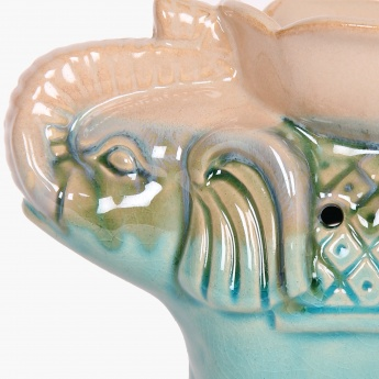 Cypress Adah Elephant Ceramic Oil Burner Teal
