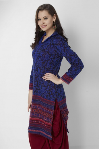 BIBA Shirt Collar Full Sleeves Kurti