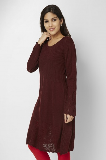 BIBA Knitted Full Sleeves Kurti