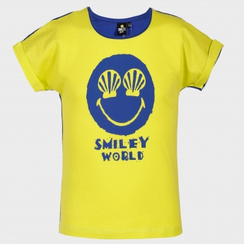 SMILEY Graphic Print T-Shirt