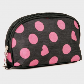GINGER Polka Heart Print Pouch