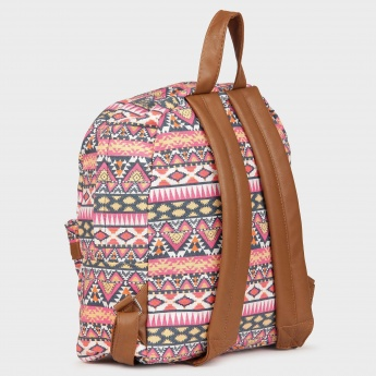 GINGER Canvas Printed Backpack