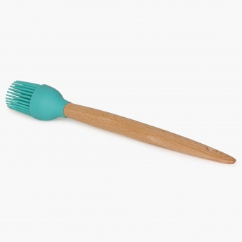 Cilantro Silicone Round Brush With Wooden Handle