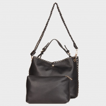 PAPRIKA Stud Detail Cross Body Handbag