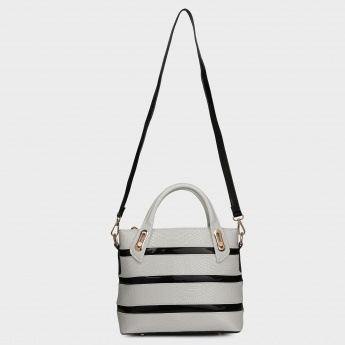 PAPRIKA Monochrome Stripes Handbag