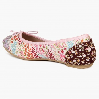 GINGER Floral Mesh Print Flat Bellies