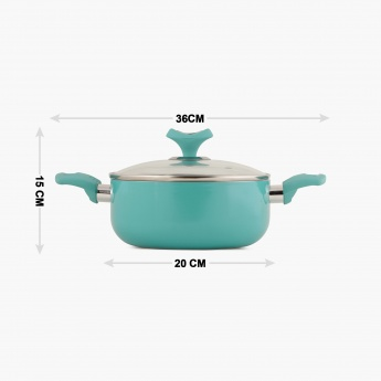 Briston Ceramic Coated Casserole With Lid - 20 CM