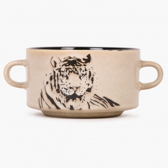 Imperial Tiger Soup Bowl With Handle