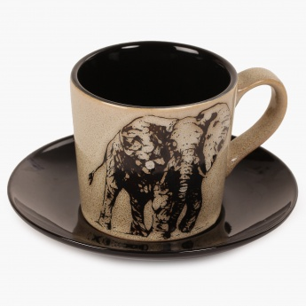 Imperial Elephant Cup And Saucer-210 ml