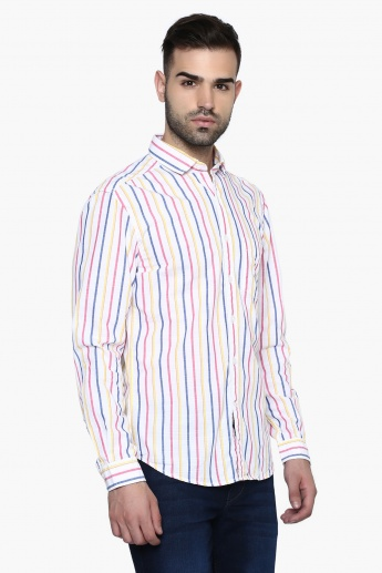 CODE Vertical Stripes Casual Shirt