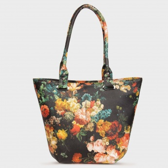 GINGER Tropical Floral Bling Handbag
