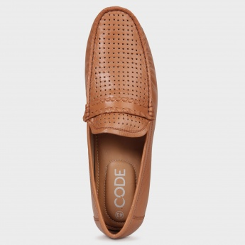 CODE Perforated Top Loafers