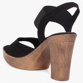 INC.5 Elasticated Strap Block Heels