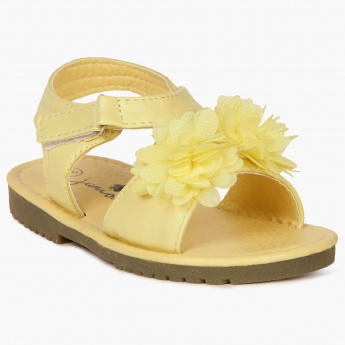 JUNIORS Flower Power Velcro Closure Sandals