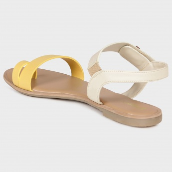 GINGER Monochrome Strap Sandals