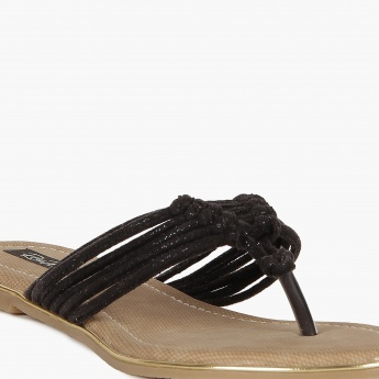 RAW HIDE Knotted Flat Sandals