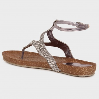 MELANGE Embellished Sandals
