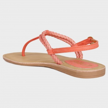GINGER Braid Strap Flat Sandals