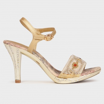 MELANGE Diamante Detail Heels