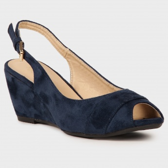 TRESMODE Peep Toe Wedges