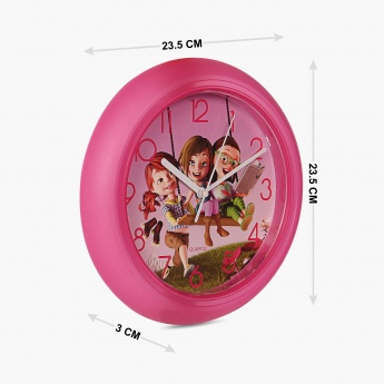 Fabulous3 Cartoon Print Wall Clock