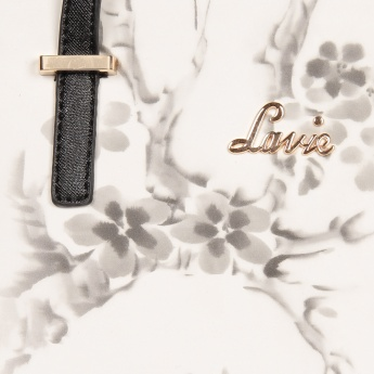 LAVIE Monochrome Floral Handbag