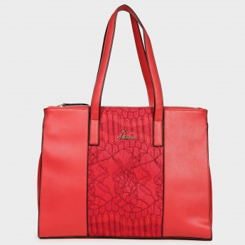 LAVIE Lace Panel Hand Bag