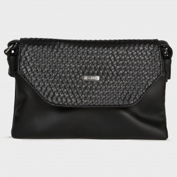 LAVIE Intersection Weave Flap Slingbag