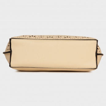 LAVIE Beige Cut-over Pattern Sling Bag