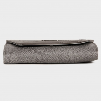 LAVIE Snake Texture Fold-Over Wallet