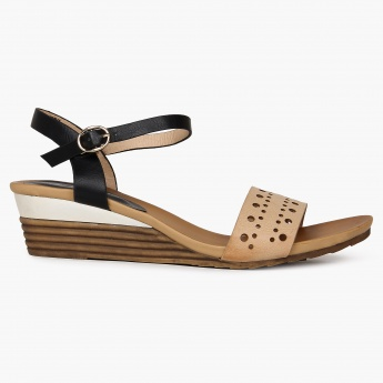 GINGER Perforated Strap Mini-Wedges