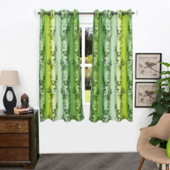 Matrix Panama Digital Printed Cotton Window Curtain - 135 X 160 CM