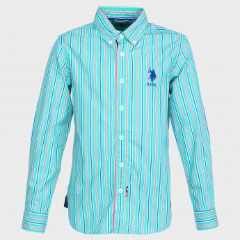 U.S. POLO ASSN. Striped Full Sleeves Shirt