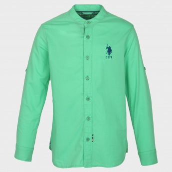 U.S. POLO ASSN. Solid Band Collar Shirt