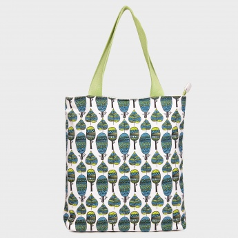 GINGER Printed Canvas Tote Handbag