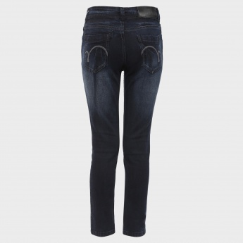 GINI & JONY Whiskered Five-Pocket Jeans