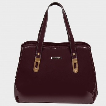 DAVID JONES Patent Finish Handbag