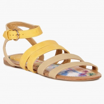 GINGER Strappy Buckle Closure Sandals