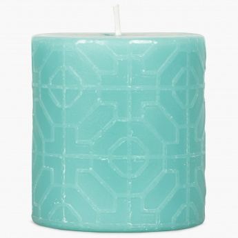 Redolance Embossed Pillar Candle - 7 CM