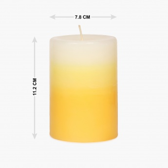 Redolance Three Tone Pillar Candle - 11CM
