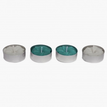 Redolance Decorative Ocean Blue T-Light- Set Of 4