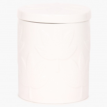 Redolance Embossed Ceramic Jar Candle - 8 CM