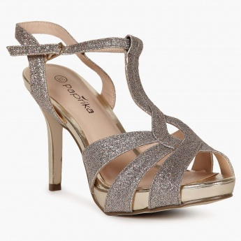 PAPRIKA Glittery Straps Pointed Heels