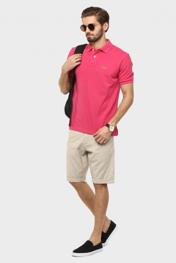 FAHRENHEIT Solid Polo Neck T-Shirt