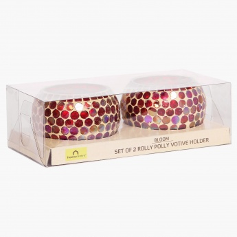 Splendid Rolly Polly Votive Holder - Set Of 2 Pcs.