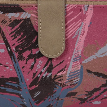 BAGGIT Brush-Stroke Zip-Up Wallet