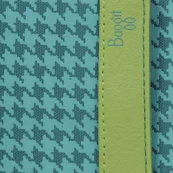 BAGGIT Two Fold Houndstooth Print Wallet