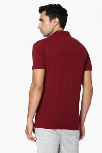 PROLINE Solid Polo Neck T-Shirt