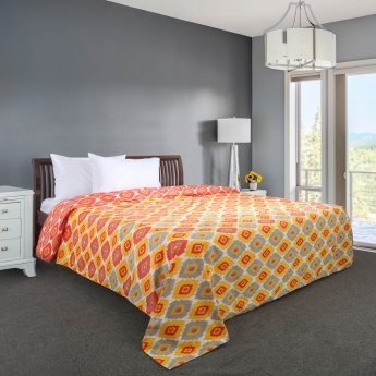 Mandarin Soliel Printed Single Bed Duvet Cover - 230 X 152 CM