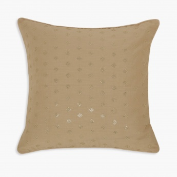 Marshmallow Nude Sequin Cushion Cover